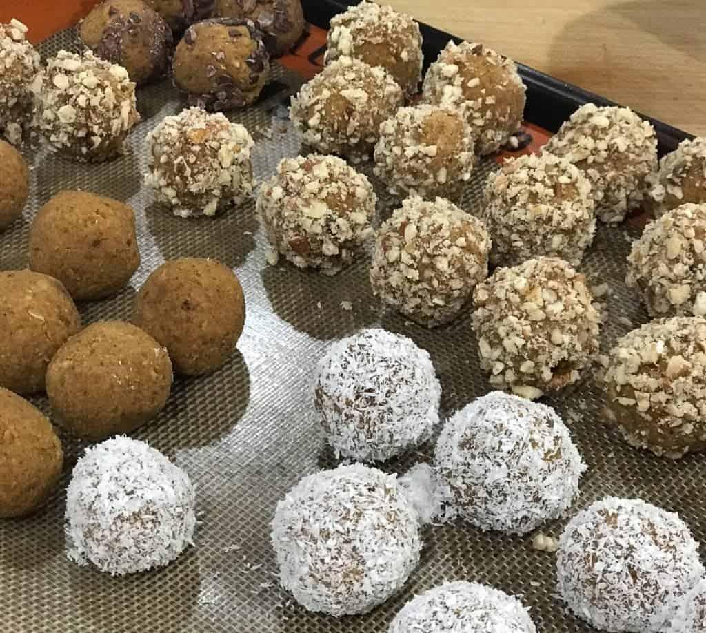 Pumpkin Pie protein balls by foodology geek