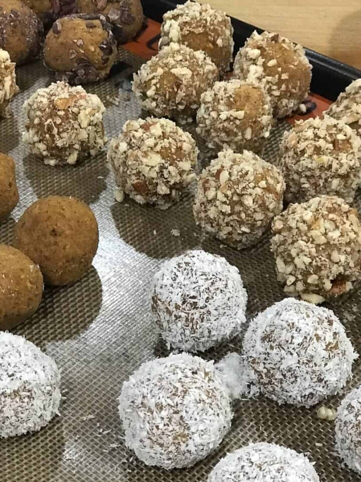 Pumpkin Pie protein balls by foodology geek