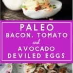 Paleo Deviled Eggs PInterest Image.