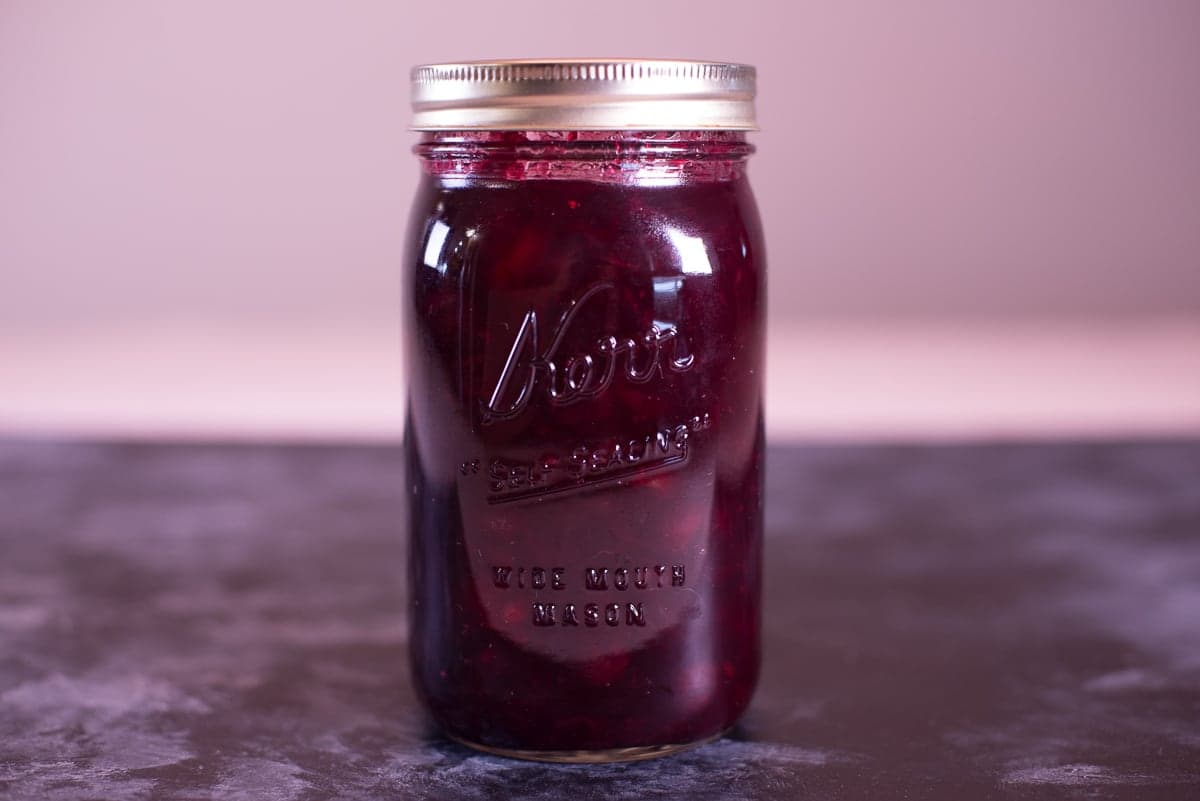 Mulled Cranberry Sauce in a Jar
