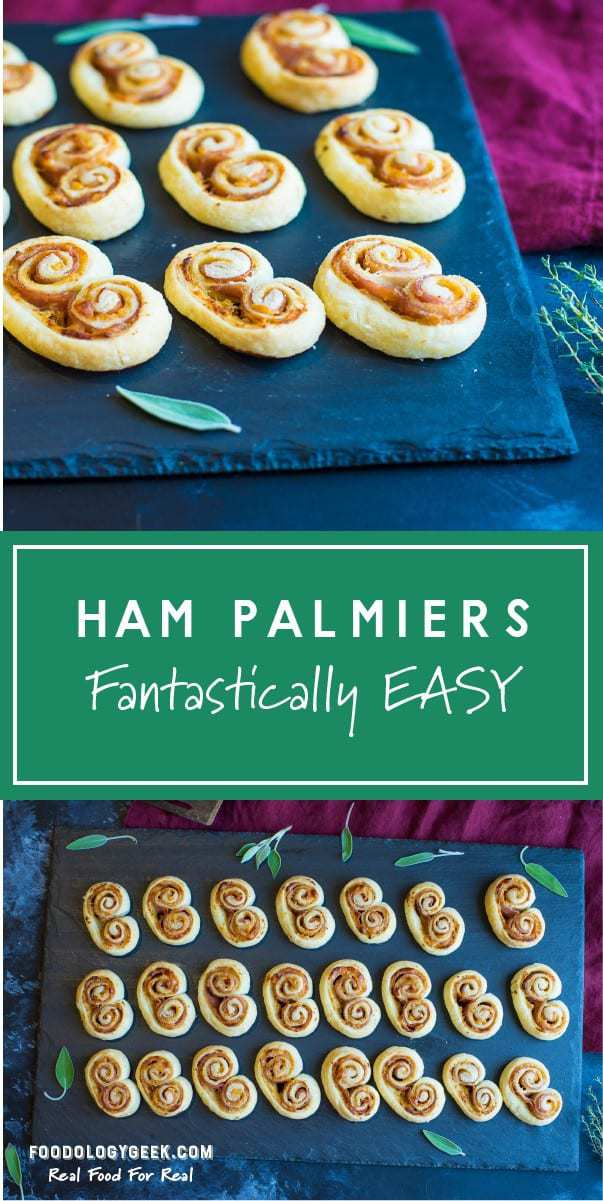 Ham and Cheese Palmeirs Pin It