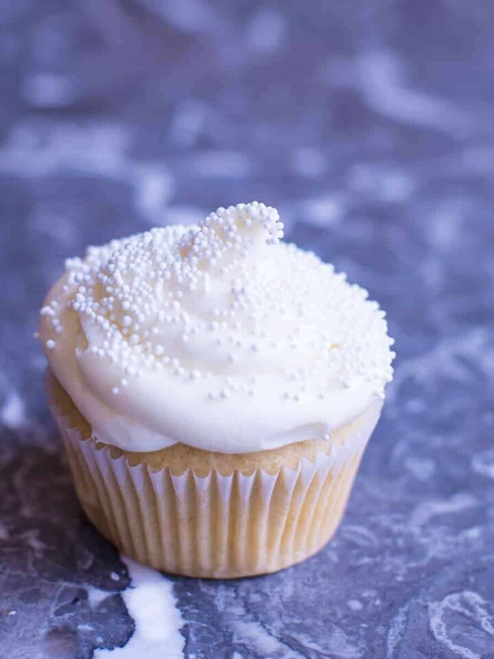One Perfect Vanilla Cupcake