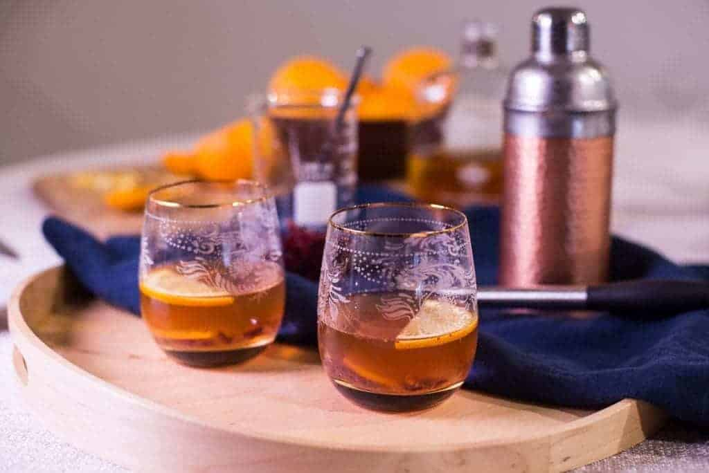 Orange Cranberry Old Fashioned