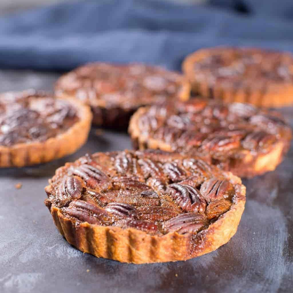 Pecan Pie Tartlets with Whole Pecans