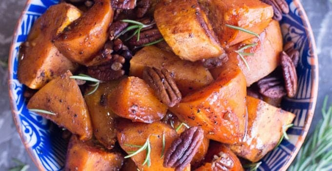 Paleo Maple Roasted Sweet Potatoes
