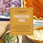 thanksgiving menu pinterest post