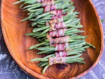 Easy Green Bean and Bacon Bundles