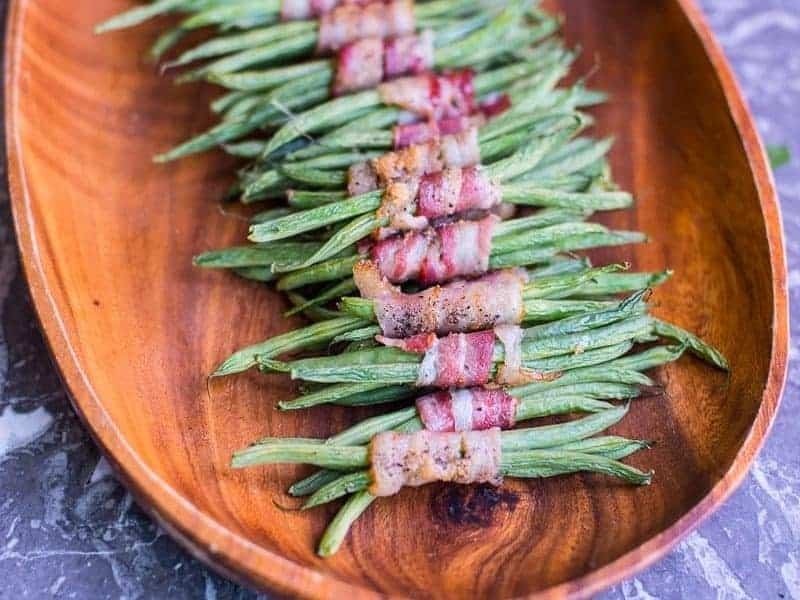 Easy Green Bean and Bacon Bundles