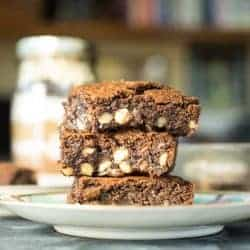 Stack of Moist Chocolaty Brownies