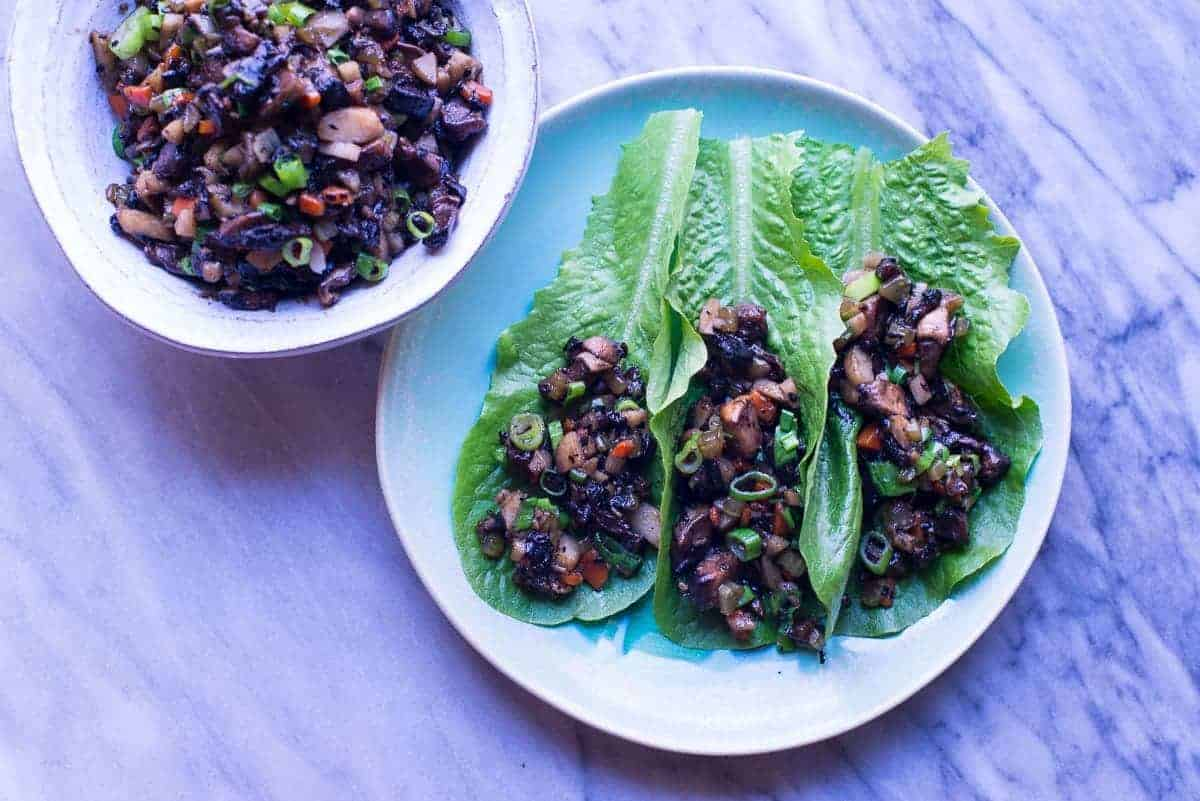 Spicy Asian Mushroom Lettuce Wraps