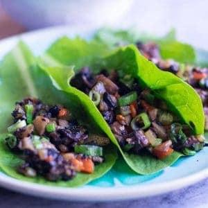 Vegan Mushroom Lettuce Wraps recipe