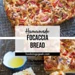 focaccia bread recipe pinterest image by foodology geek