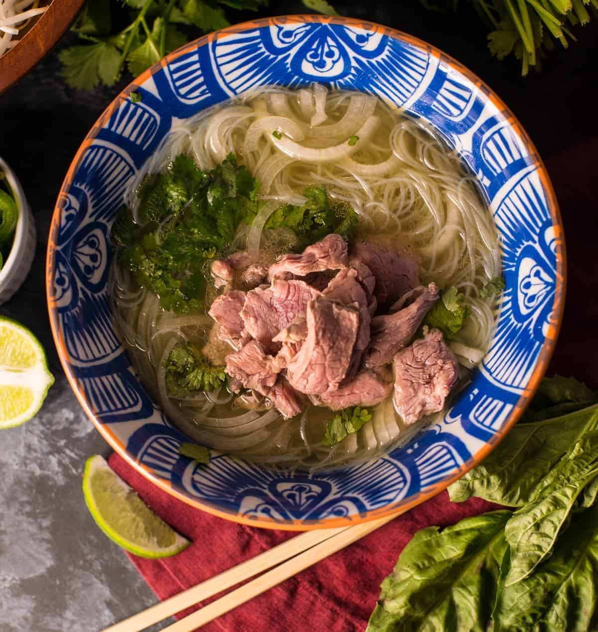 Bowl of Pho Noodles