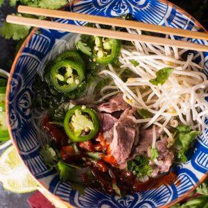 Bowl of Pho with Sriracha Recipe