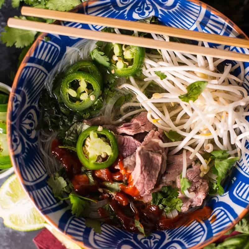 Bowl of Pho with Sriracha Recipe