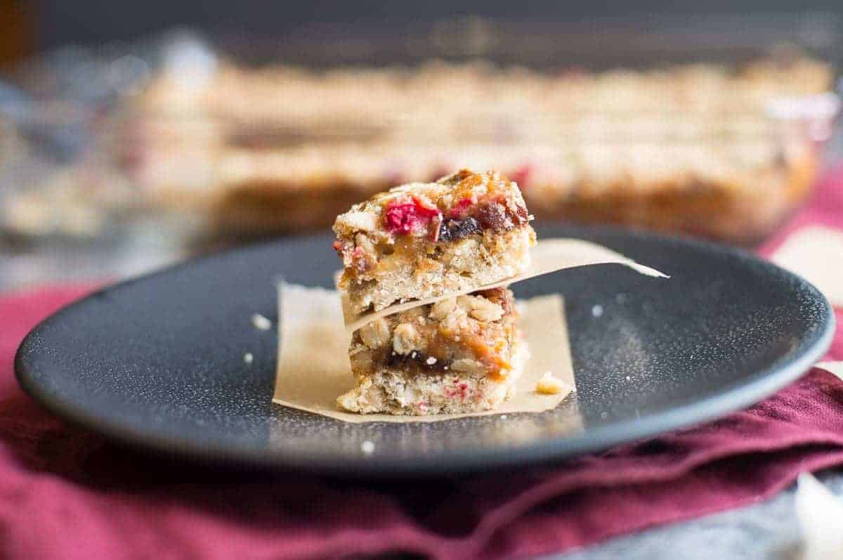 Cranberry Apricot Bars stack
