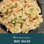 Hawaiian Mac Salad Recipe by Foodology Geek Pinterest Image
