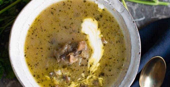 Paleo Mushroom Soup Recipe