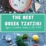 The Best Greek Tzatziki pinterest image by foodology geek
