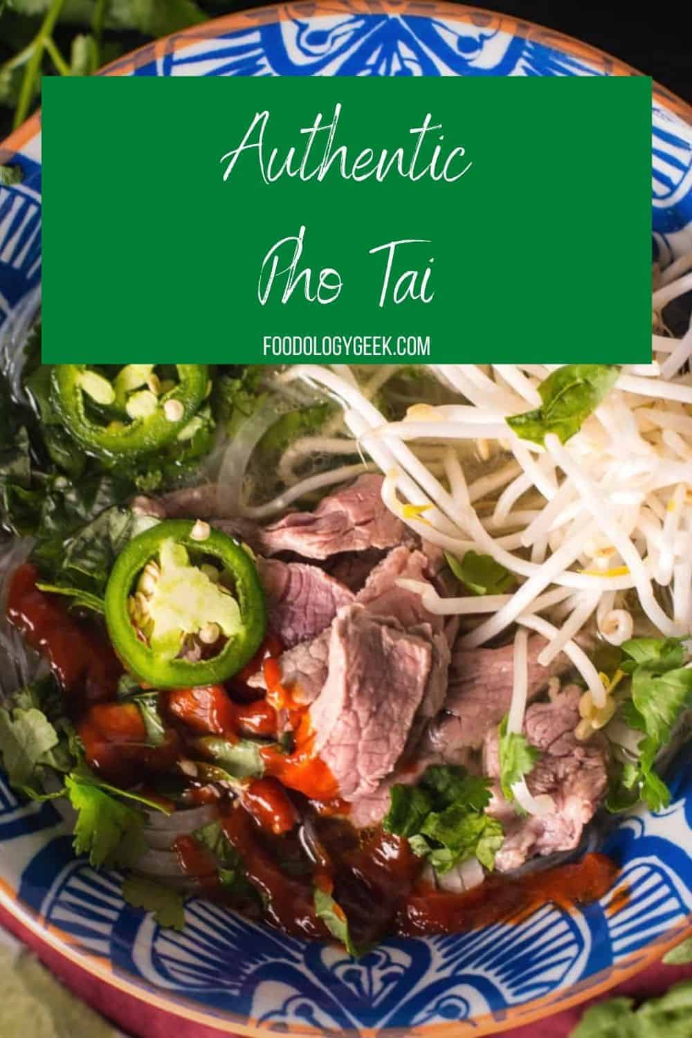 Make this traditional Vietnamese noodle soup at home! The spices in the broth are spot on! So Yummy! Phó Tai is comforting and so good for you!