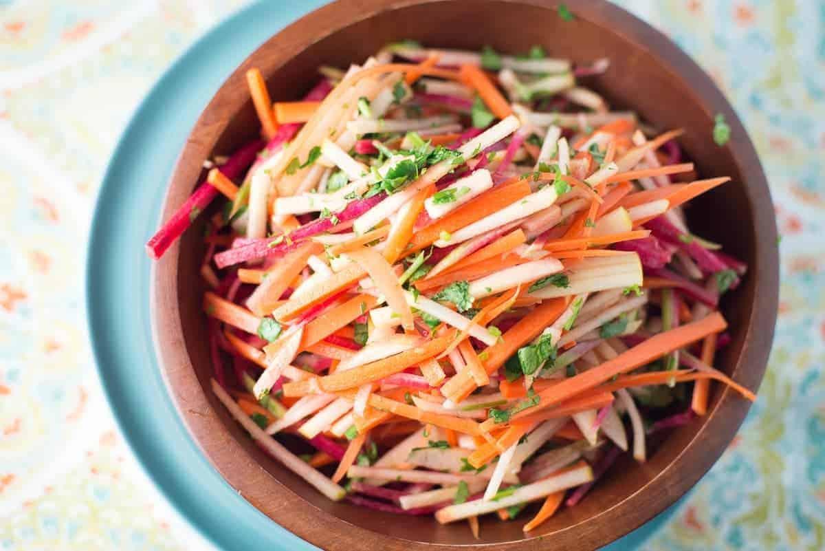 Carrot, Apple and Radish Salad