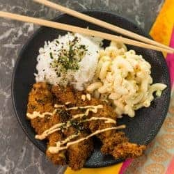 Crispy Furikake Fried Chicken with Sriracha Aioli
