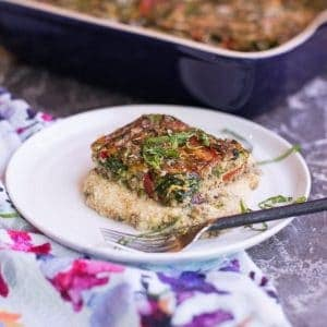Pesto Polenta Baked Veggie Frittata