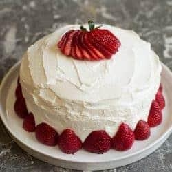 Swedish summer strawberry cake.
