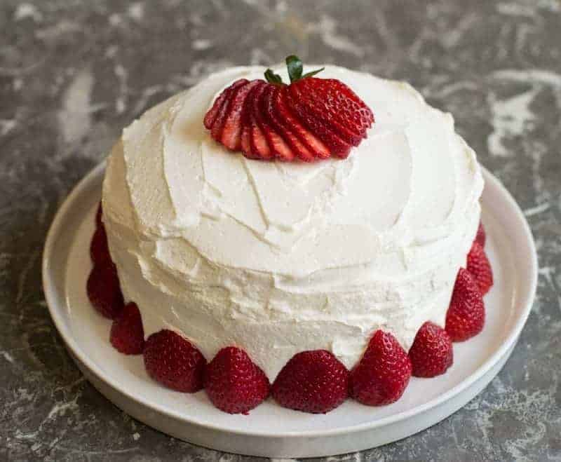 Swedish summer strawberry cake.