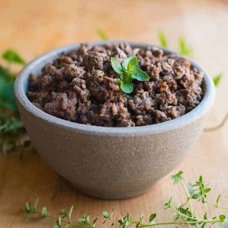 Browned Ground Beef Seasoned with Onions can easily be turned into a super fast week night meal.