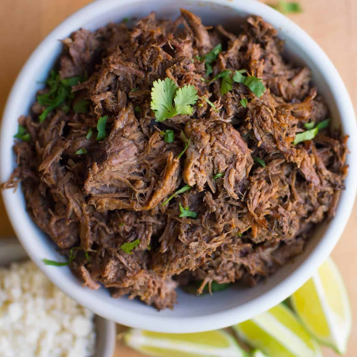 Super Easy Slow Cooker Shredded Beef