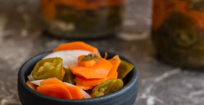 Homemade Spicy Pickled Carrots