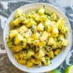 Pineapple Salsa Pinterest Image by foodology geek