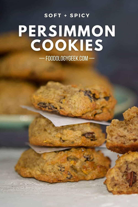 persimmon cookies pinterest image