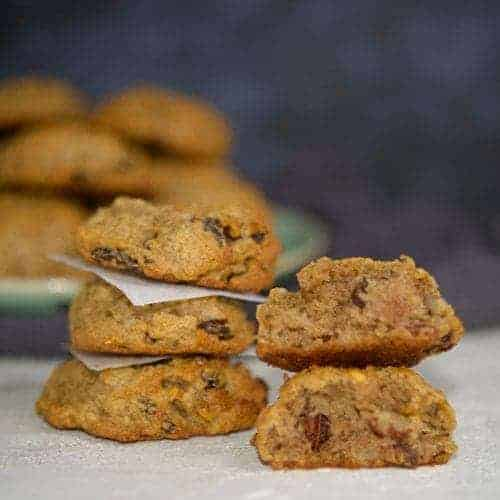 Soft spiced persimmon cookies.