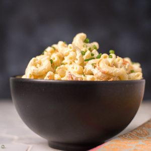 Authentic Hawaiian Mac Salad. Creamy, with the perfect flavor. Just like the kind you get with plate lunch.