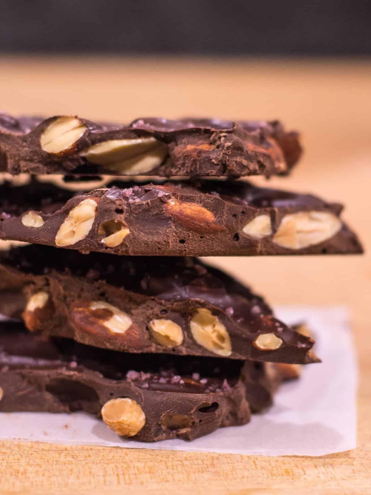 super easy almond bark recipe stacked