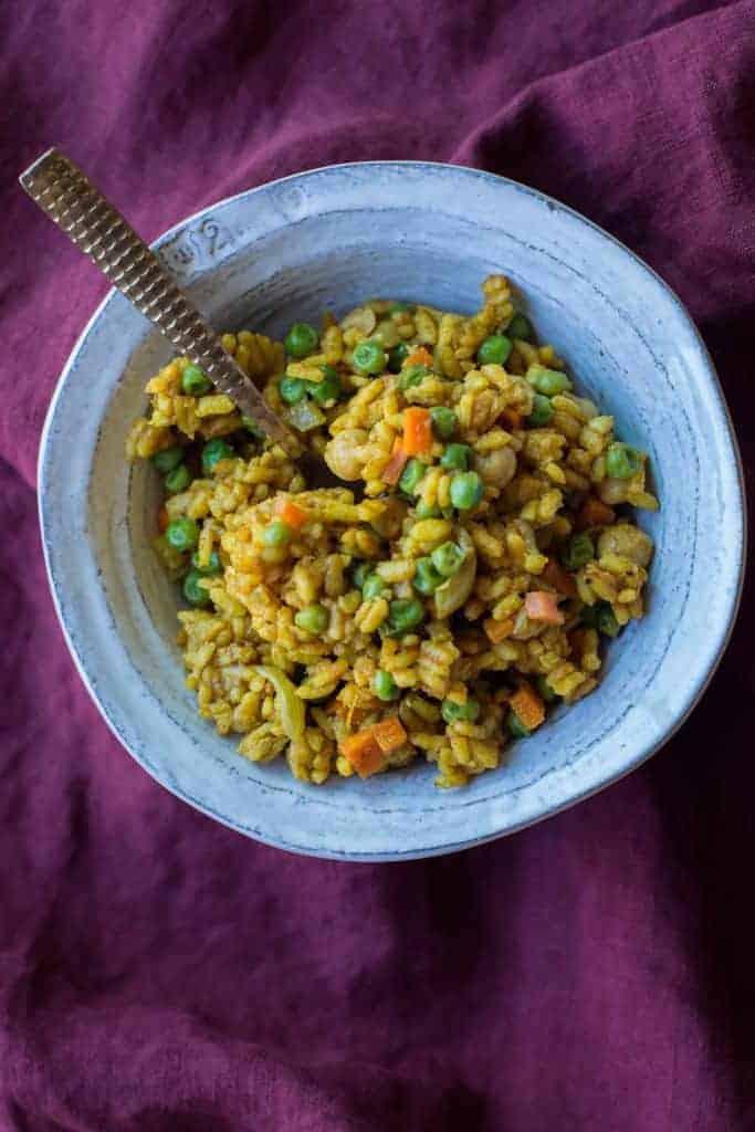 Easy Vegan Curry Risotto Recipe