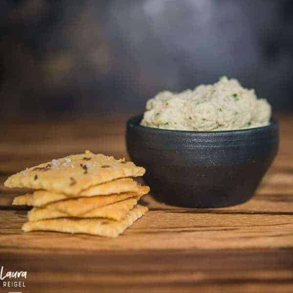 cashew cheese with keto crackers