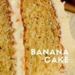 Sometimes banana cake tastes like banana bread. This cake is a super moist and light homemade banana cake. #bananacake