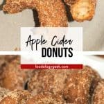apple cider donut pinterest image by foodology geek