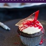glass shard cupcakes. pinterest image by foodology geek.