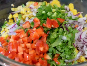 Roasted Corn Salsa Ingredients