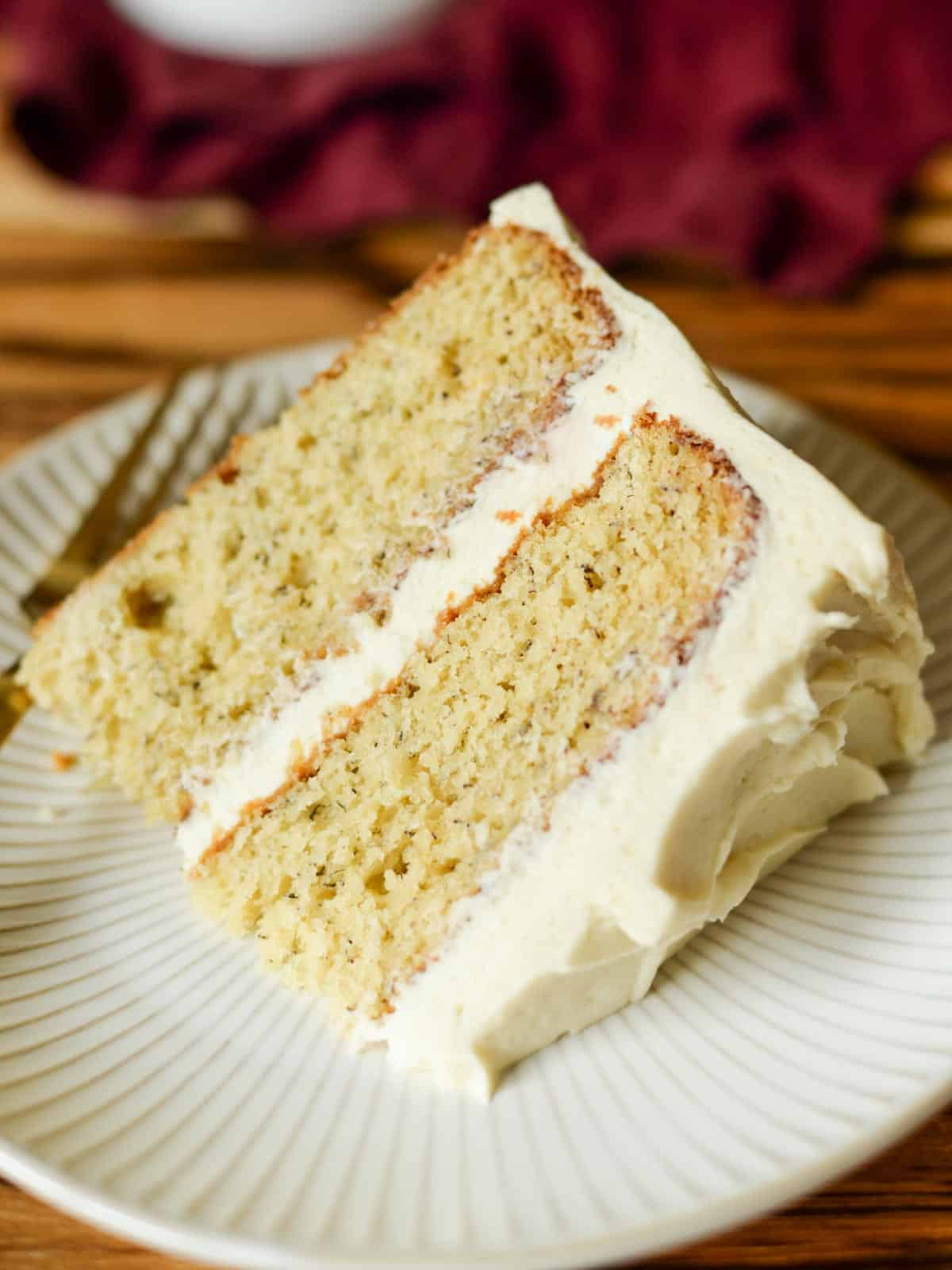 slice of the best banana cake