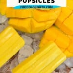 This popsicle is like having the best Mango Lassi in a delicious frozen ice pop. These ice pops have no added sugar, just all the creamy mango lassi flavor.