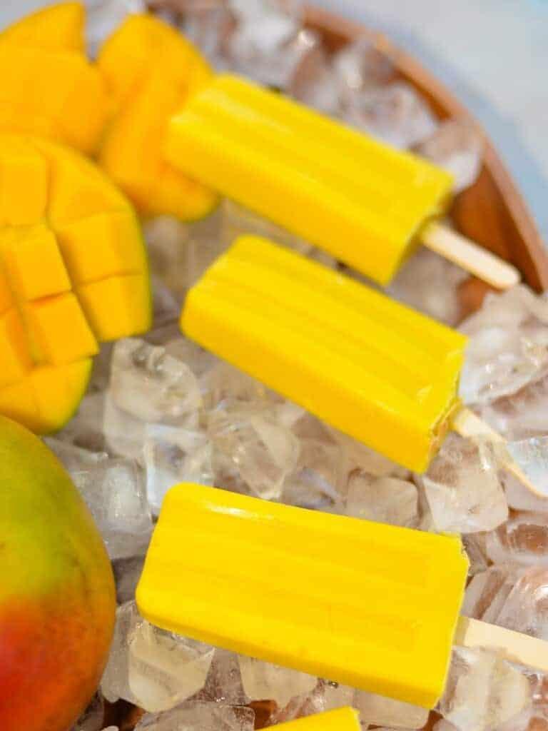 fresh fruit mango popsicles