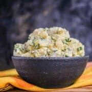 Traditional Creamy Potato Salad with or without hard boiled eggs.