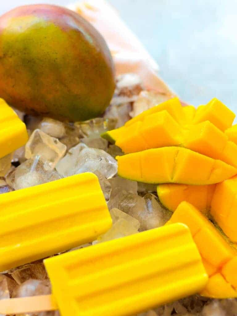 fresh mango popsicles