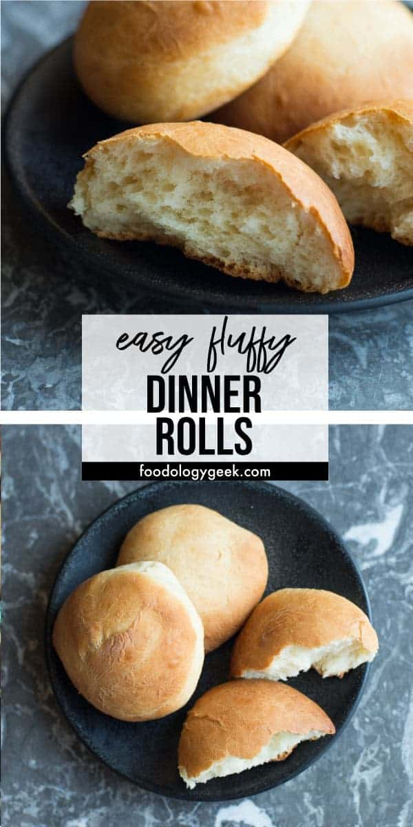 Fluffy holiday dinner rolls. recipe by foodology geek
