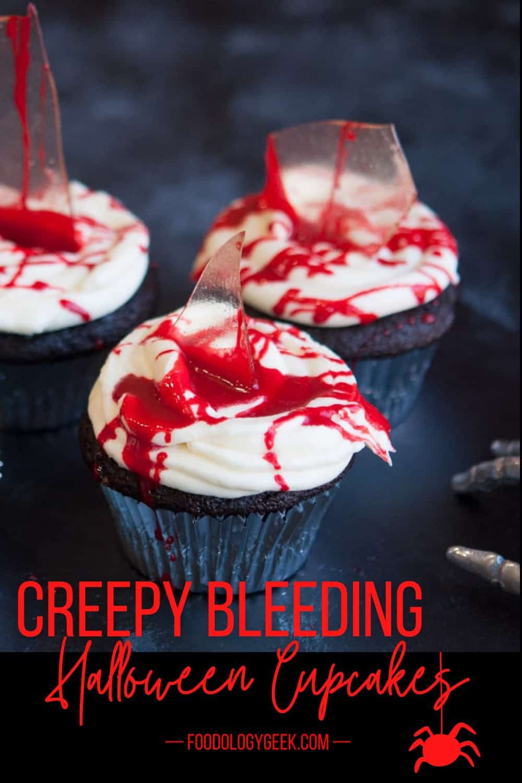 bleeding halloween cupcakes pinterest image